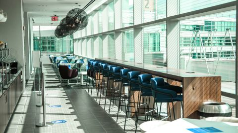 There are plenty of great seats on the lower floor of the JFK Centurion Lounge as well.