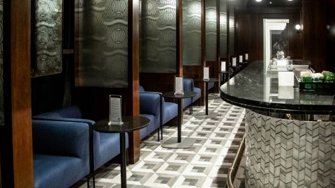 Relax in the Amex Centurion Lounge at New York's JFK when you have the Business Platinum Card from American Express.