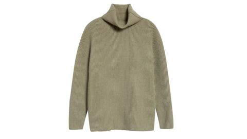 Nordstrom Signature Funnel Neck Cashmere Tunic Sweater