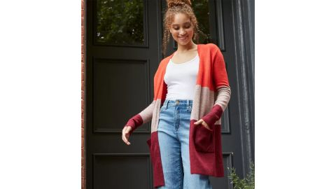 A New Day Colorblock Open-Front Cozy Cardigan