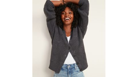 Old Navy Pointelle-Knit V-Neck Button-Front Cardigan Sweater for Women