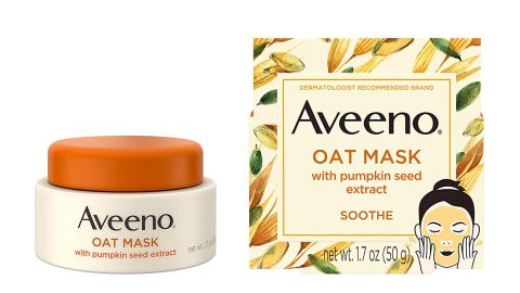 Aveeno Oat Face Mask With Soothing Pumpkin Seed Extract