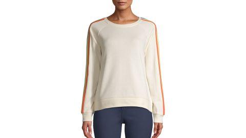 Time and Tru Women's Side Stripe Sweatshirt