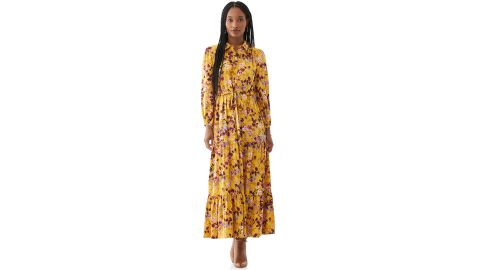 Scoop Women's Printed Maxi Shirt Dress