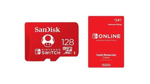 SanDisk 128GB microSD + 12 Months of Nintendo Switch Online