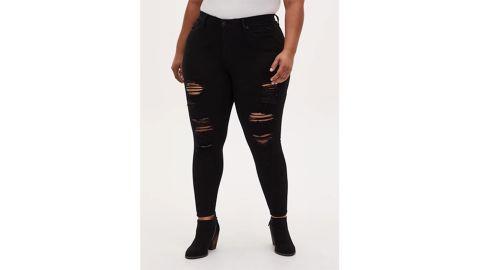 Torrid Sky High Skinny Jeans in Premium Stretch Black