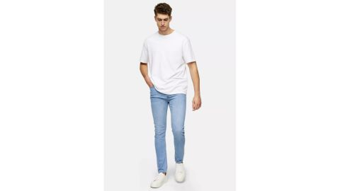 Topman Considered Light Wash Stretch Skinny Jeans