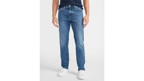 Express Slim Straight Supersoft Medium Wash Hyper Stretch Jeans