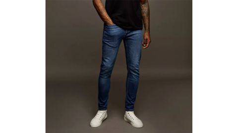 Topman Bright Blue Wash Stretch Skinny Jeans