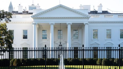 """The White House is seen in Washington, DC, October 2, 2020. - The White House is carrying out contact tracing after President Donald Trump and his wife Melania tested positive for Covid-19, a spokesman said Friday. """"Contact tracing is being done and the appropriate notifications and recommendations will be made,"""" deputy press secretary Judd Deere said. Trump met with dozens of people through the week and reportedly went to a fundraiser in New Jersey after it was known that a close aide, Hope Hicks, had tested positive. (Photo by SAUL LOEB / AFP) (Photo by SAUL LOEB/AFP via Getty Images)"""