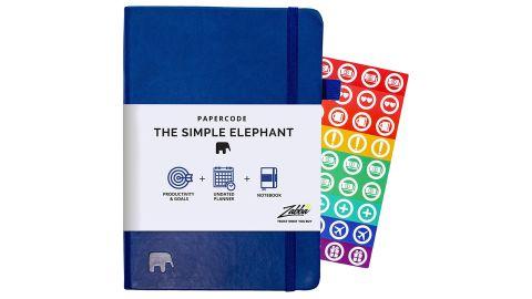 Simple Elephant Undated Planner 2021-2022