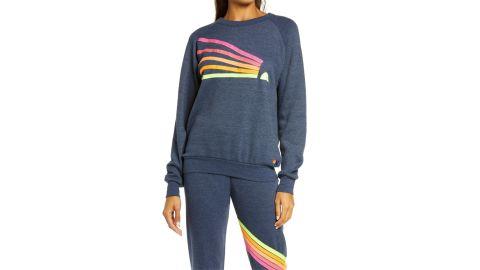 Aviator Nation Daydream Sweatshirt & Chevron Stripe Joggers