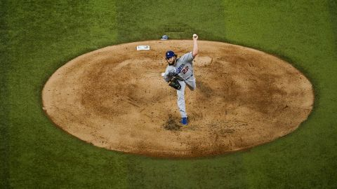 Dodgers pitching ace Clayton Kershaw was the starting pitcher against the Rays in Game 5 and earned his second win of the Series.