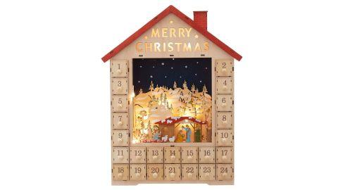 Kurt Adler Light Up Advent Calendar House