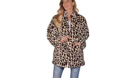 Sisttke Women Faux Fur Coat