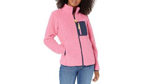 Amazon Essentials Women's Sherpa Long-Sleeve Mock Neck Full-Zip Jacket