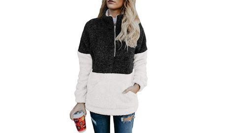 Dokotoo Women's Fashion Oversize Fluffy Fleece Sweatshirt Pullover