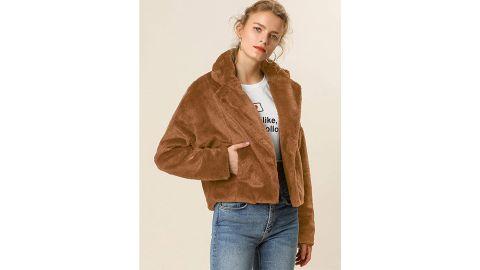 Allegra K Women's Autumn Winter Cropped Jacket
