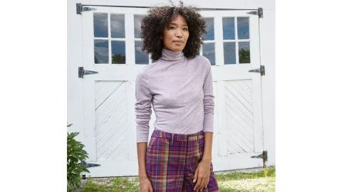 A New Day Women's Long-Sleeve Turtleneck Cozy T-Shirt