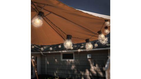 Ebern Designs Lavoir 20-Foot Outdoor LED Solar-Powered 10-Bulb Globe String Light