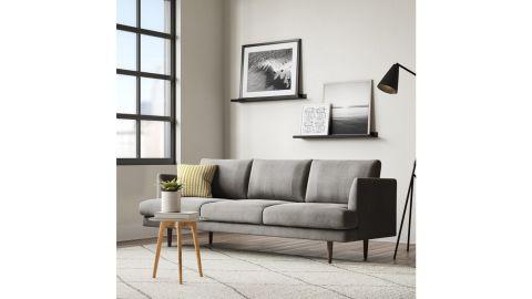 All Modern Norah Velvet 84-Inch Recessed Arms Sofa