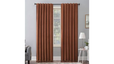House of Hampton Ewert Velvet Solid Max Blackout Thermal Back Tab Single Curtain Panel