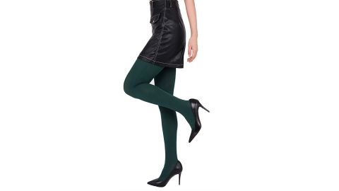 CozyWow 80D Soft Solid-Color Semi-Opaque Footed Tights