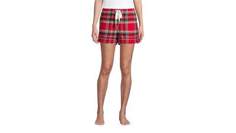 Women's 4-Inch Flannel Pajama Shorts