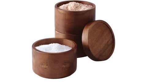 Rachael Ray Pantryware Wood Salt Cellar Stacking Set