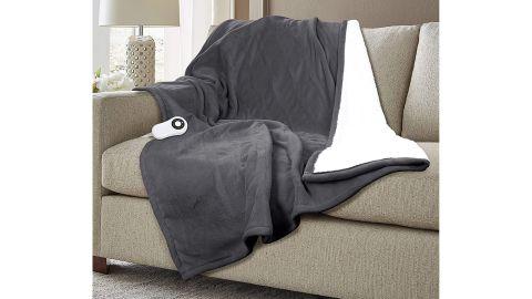 Serta Super-Soft Reversible Electric Throw Blanket
