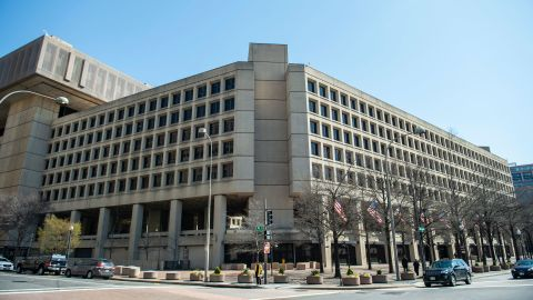 The J. Edgar Hoover Building of the Federal Bureau of Investigation (FBI) is seen on April 03, 2019 in Washington, DC.