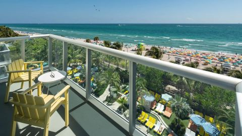 Get a $75 statement credit when you stay at The Confidante in Miami Beach, part of The Unbound Collection by Hyatt.