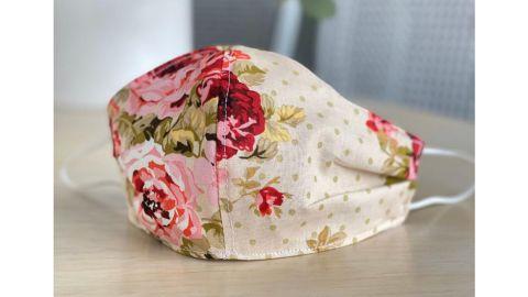 Cecelia Rosslee Rose Gold Floral Face Mask