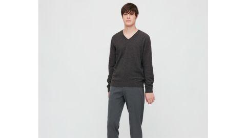 Uniqlo Men's Cashmere V-Neck Long-Sleeve Sweater