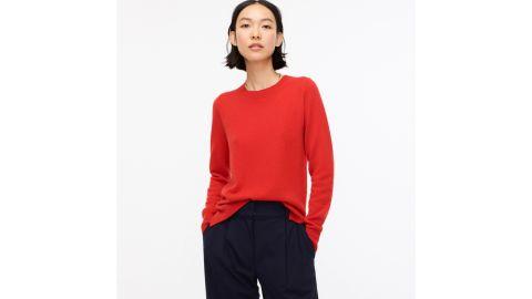 J.Crew Women's Long-Sleeve Everyday Cashmere Crewneck Sweater