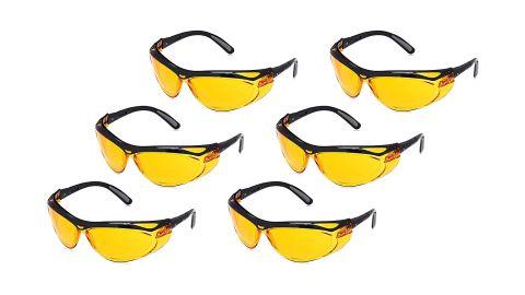 AmazonBasics Blue Light Blocking Safety Glasses, 6-count