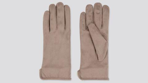 Uniqlo Heattech Faux Shearling-Cuffed Gloves
