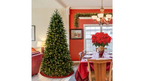 National Tree Company 6.5-Foot Feel Real Jersey Fraser Slim Fir Artificial Christmas Tree