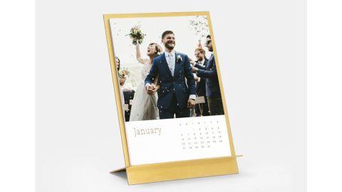 Artifact Uprising Brass & Easel Calendar