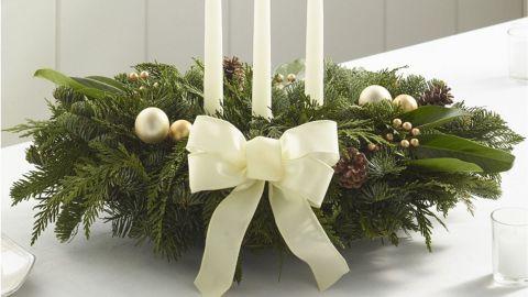 L.L.Bean Winter White Holiday Fir Christmas Centerpiece