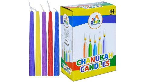 Ner Mitzvah Colorful Hanukkah Candles
