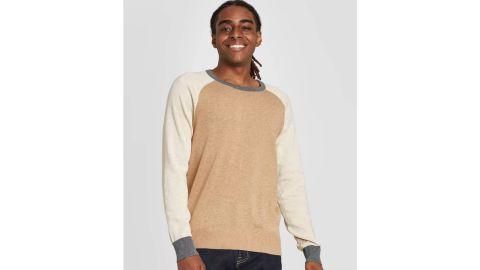 Goodfellow & Co Men's Colorblock Regular-Fit Crew Neck Sweater