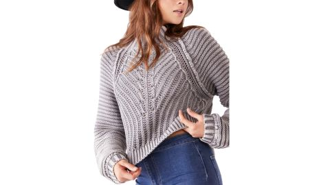 Free People Sweetheart Mock Neck Sweater