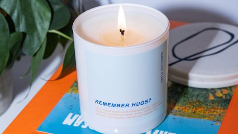Miss hugs? Let your feelings burn brightly with a Cancelled Plans candle.
