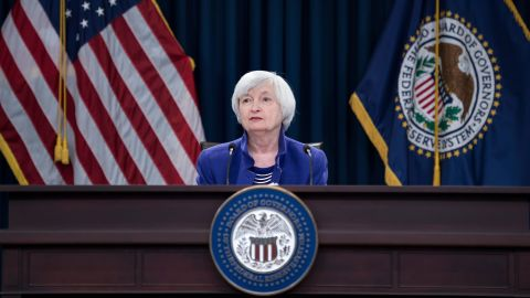 Federal Reserve Board Chair Janet Yellen speaks during a briefing at the US Federal Reserve December 13, 2017 in Washington, DC. The US central bank on Wednesday raised the benchmark interest rate for the third and final time this year, and officials indicated they are not likely to be more aggressive next year, at least for now. / AFP PHOTO / Brendan Smialowski        (Photo credit should read BRENDAN SMIALOWSKI/AFP via Getty Images)