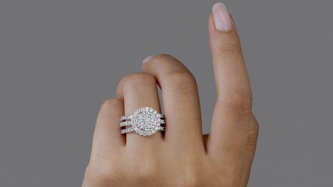 Sunray Lab Diamond Ring