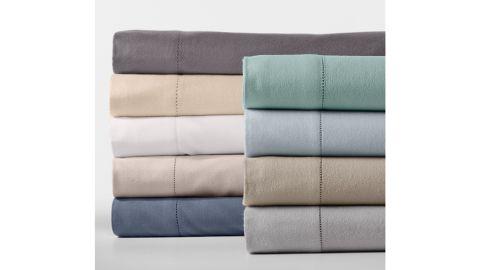 Garnet Hill Hemstitched Supima Flannel Bedding