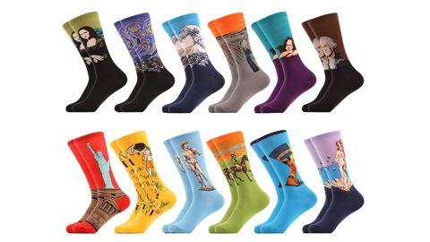 WeciBor Men's Cotton Crew Socks, 12-Pack
