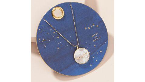 Zodiac Mother-of-Pearl Pendant Necklace