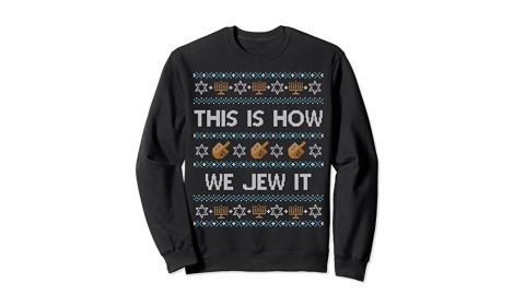 TJS Ugly Hanukkah Sweater This Is How We Jew It